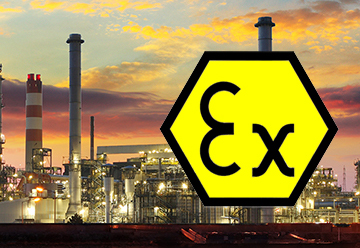 Atex logo on background