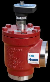 NH3/CO2 Leckageschalter in Abscheidergehäuse